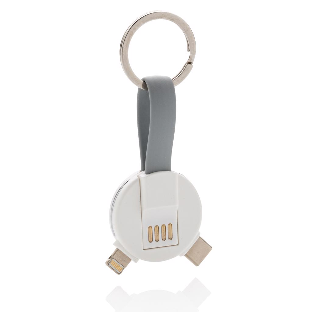 type C and a double sided connector for IOS and Android devices. Suitable for charging and syncing data. Both ends can be connected by a magnet to keep the cable compact and easy to carry.