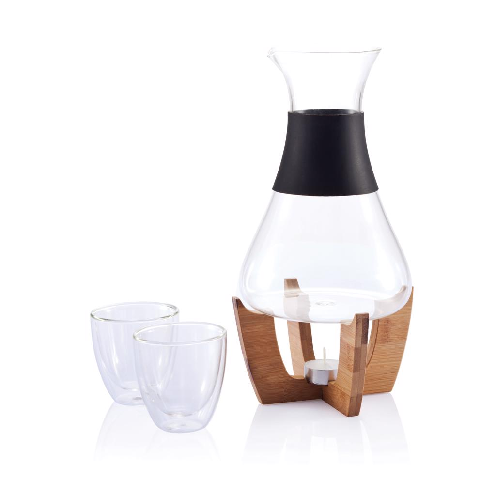the carafe set can be used without a tealight for serving all your cool and refreshing drinks. Registered design®