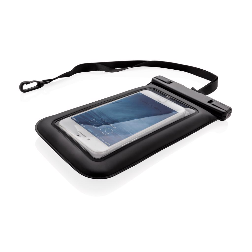 beach and pool visits or in torrential rain. In the case of the phone pouch being dropped in water it will remain afloat making sure you won't lose your precious mobile. The pouch has special transparent parts to enable you to take pictures and navigate your phone screen while it's inside the pouch.