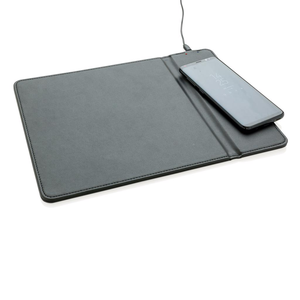 iPhone 8 and up). The wireless charging part can be also used as stand for your mobile device. Includes 40 cm micro USB cable to connect the mousepad to the USB port of your computer.  Input: 5V/1A. Wireless output: 5V/1A 5W.