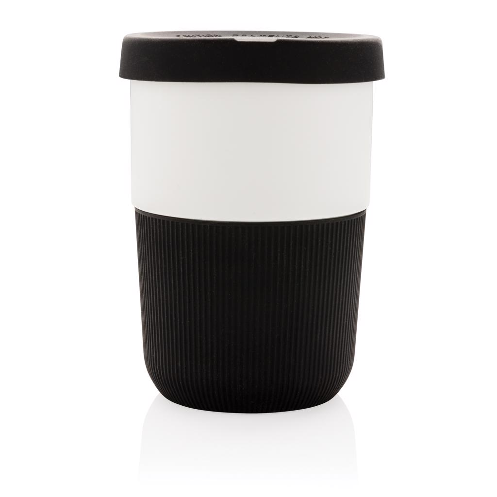 this PLA coffee cup is ideal for transporting your favourite hot beverage. Manufactured from plant material (PLA)