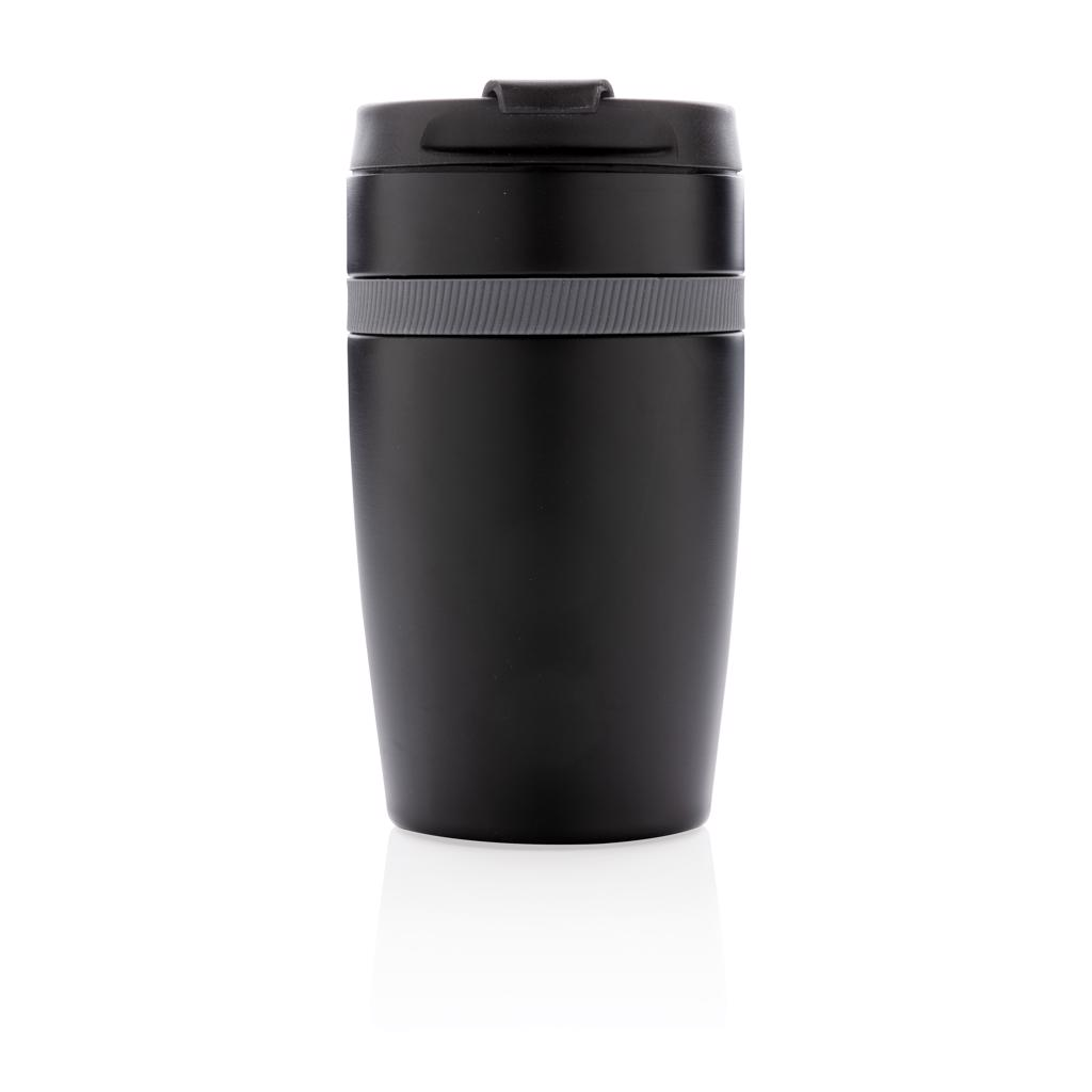 a perfect fit for most coffee machines. This vacuum insulated double wall stainless steel design tumbler with silicone band detail. Keeps your drinks hot for up to 5h and cold for up to 15h. Content: 280ml. Registered design®