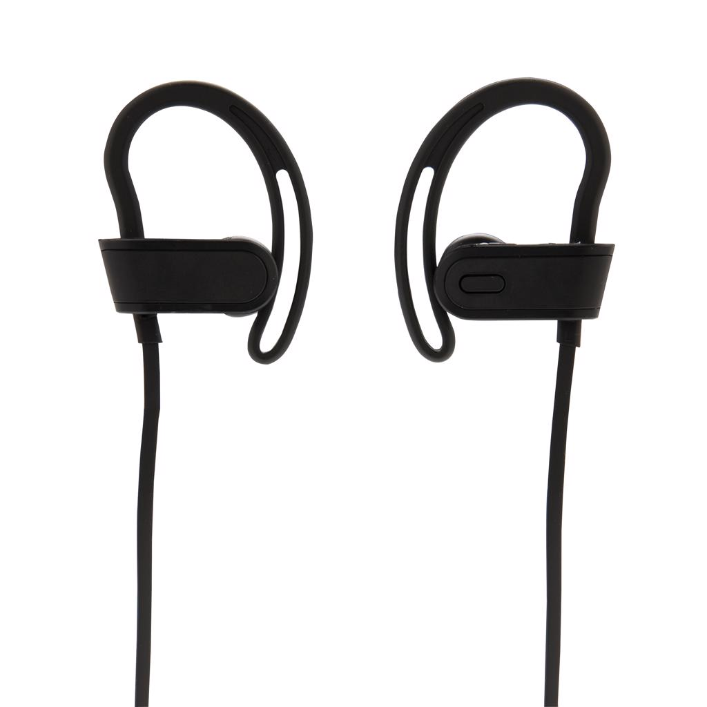 next/previous song button and a mic to answer calls. Operating distance up to 10 metres. Play time up to 4 hours on one charge and standby time of 120 hours.