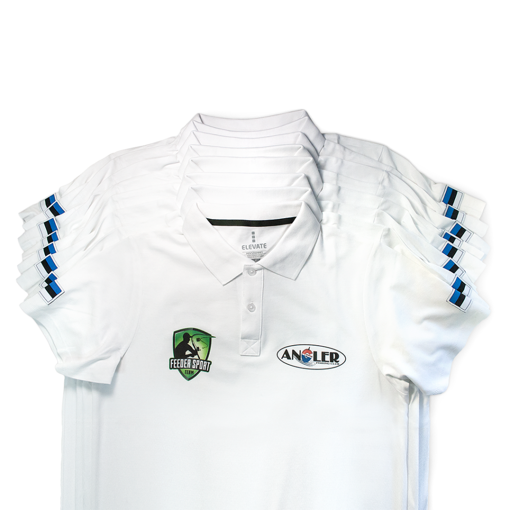 DTG printed polo shirts
