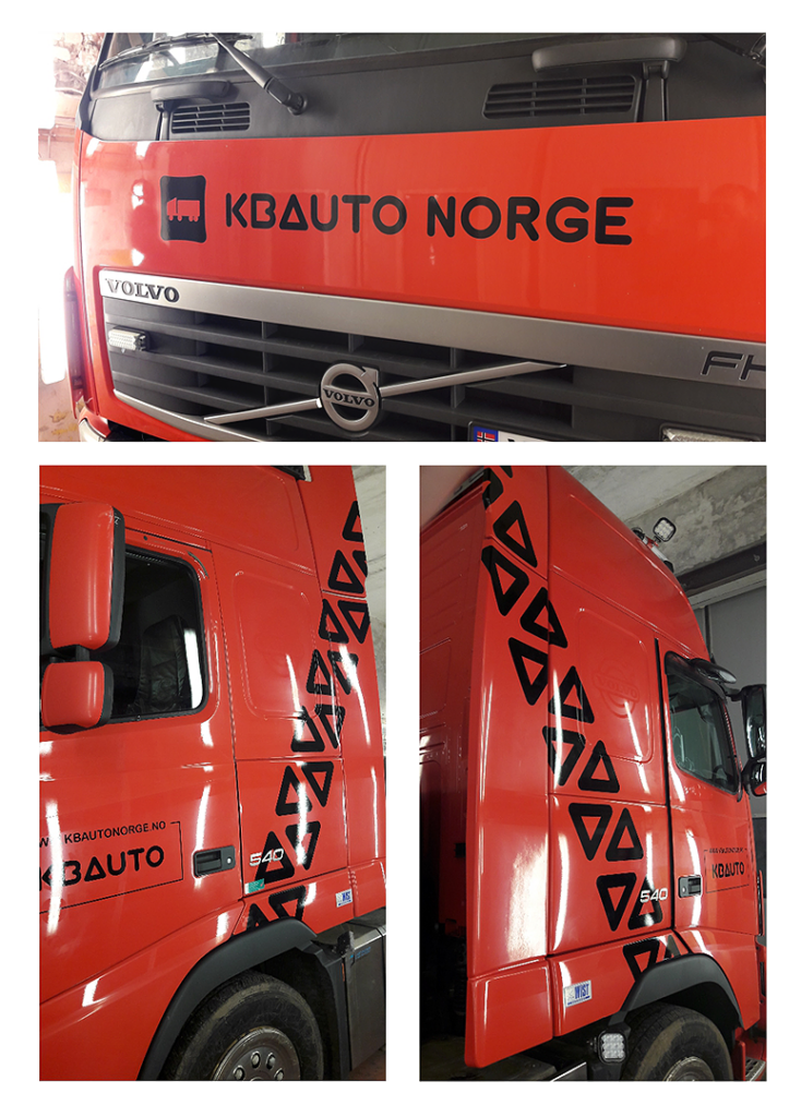 Stickers on the car of KB Auto Norge