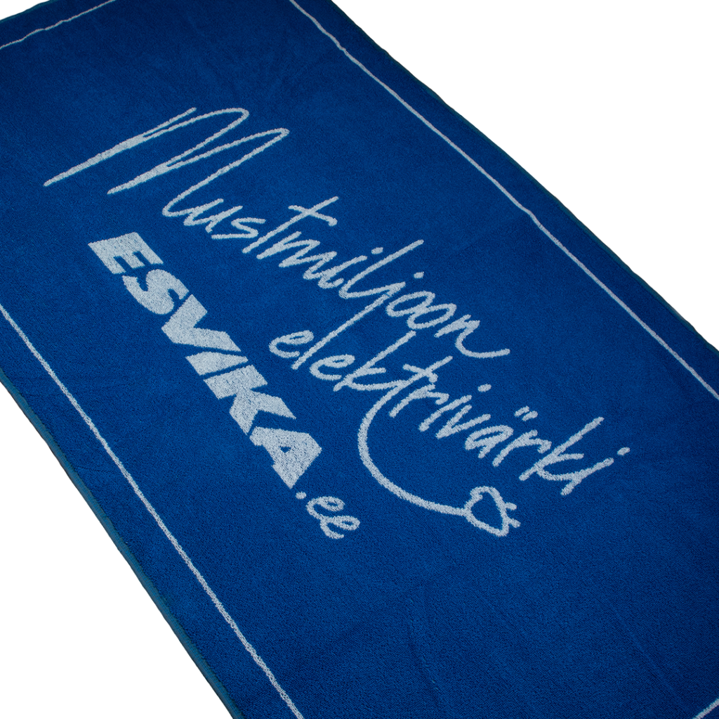 Terry towel with Esvika knitted logo.