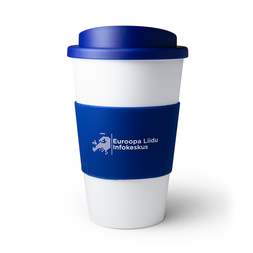 European Union Information Center mug with pad printing
