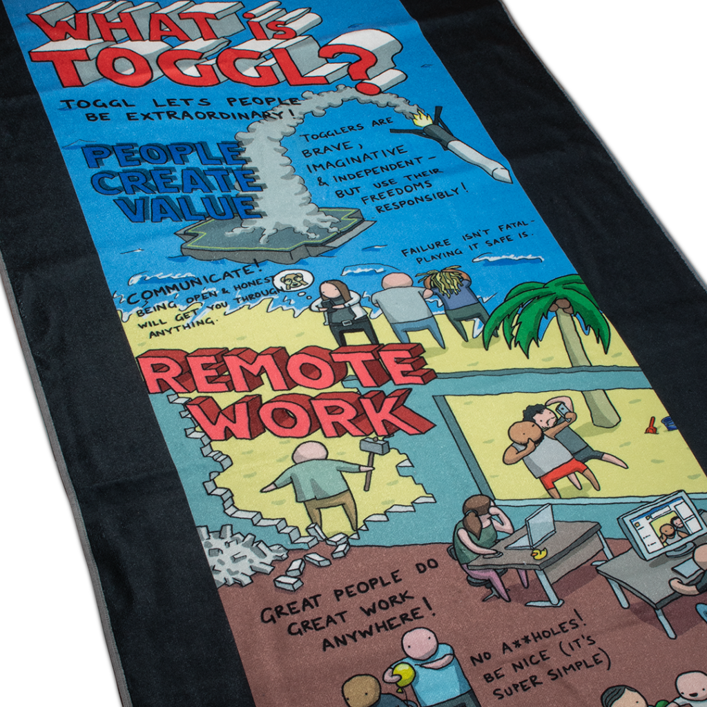 Toggl printed terry towel.