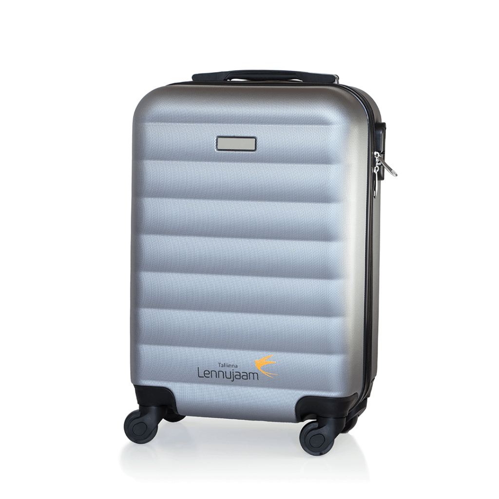 suitcase with logo